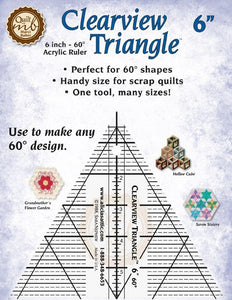 Marci Baker Clearview Triangle™ 6 Inch: For smaller pieces, this makes rotary cutting individual triangles and diamonds easy