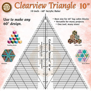 "Marci Baker Clearview Triangle™ 10"" Acrylic Ruler - Use to make any 60 degree design"