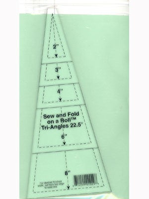Sew & Fold on a Roll Tri-Angle Ruler, 22.5 Degree
