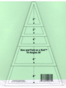 Sew & Fold on a Roll Tri-Angle Ruler, 36 Degree