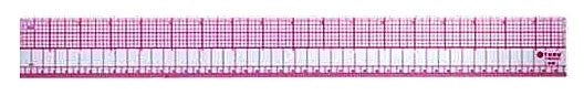 Westcott C-Thru 8ths Graph Beveled (Transparent) Ruler, Printed with Red Ink, 18