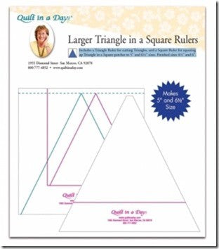 "The Wedge Ruler by Quilt in a Day - 2.5"" X 6.5"""