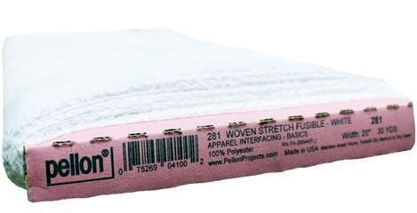 "Woven Stretch Fusible Interfacing, White, 51cm (20"") Wide x 27.43m (30 Yards), 100% Polyester"
