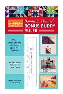 "FAST2CUT® Bonnie K. Hunter's Bonus Buddy Ruler: Handy Ruler With 1/8"" Increments"