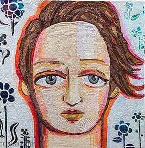 Making Faces In Fabric: Workshop with Melissa Averinos -ÊDraw, Collage, Stitch & Show 4