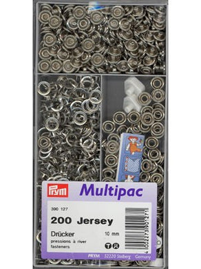 Snap Fastener 10mm 200 Pack - Jersey Snap