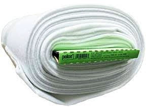"Heavy Weight Fusible Fleece, White, 114cm (45"") Wide x 9.1m (10 Yards), 100% Polyester"