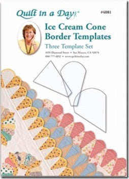 Ice Cream Cone Border Templates: Three Template Set by Quilt in a Day