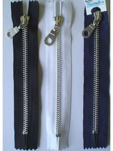 Aluminum Jean Zipper, #5, Non Separable