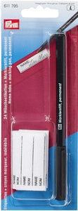 Laundry marking kit, 24 iron-on name tape/pen