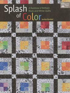 Splash Of Color: A Rainbow Of Brilliant Black-And-White Quilts