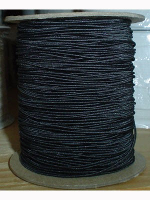 Stretchrite Elastic Round 131.7M Poly Braid, Black