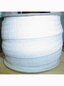 Woven Elastic 51mm x 5.5M, White, polyester