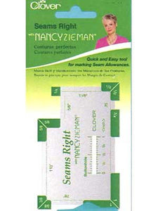 Clover Seams Right: Multi-Purpose Tool For Sewing, Quilting, Knitting, Crochet & Embroidery By Nancy Zieman