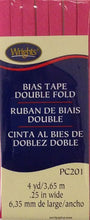 Bias Tape Packaged Double Fold 6mm x 3.65m Berry Sorbet 1232