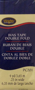 "Wight's Bias Tape Packaged Double Fold 6mm (1/4"") Wide"