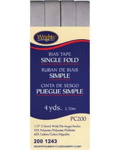 Wright's Single Fold Bias Tape Packaged 13mm Wide Shadow 1243