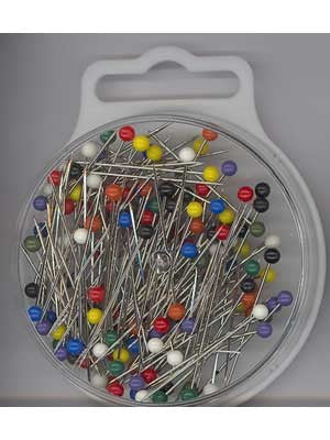 Plastic-Headed Pins, Assorted Colours, 145 count