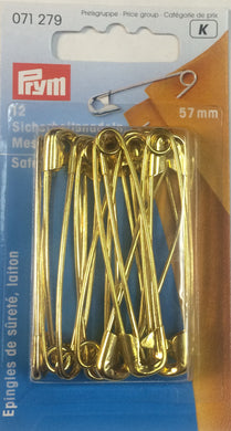 Safety Pins Nickel Plated 57mm