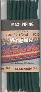Wright's Corded Piping 13mm Jungle Green 081