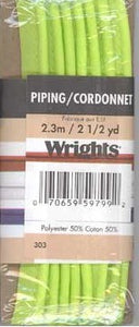 Wright's Corded Piping 13mm Lime Green 628