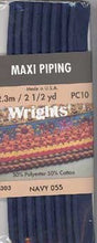 Wright's Corded Piping 13mm Navy 055