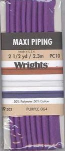 Wright's Corded Piping 13mm Purple 064