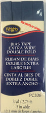 Wright's Bias Tape Packaged Single Fold 13mm Stone Blue 584