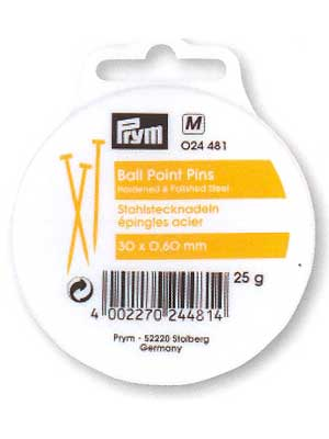 Ball Point Pins, 30 x 0.60mm, 25g, 375 count