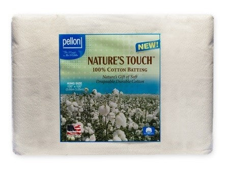 Pellon Nature's Touch Batting with Scrim Binder, King Size - 120