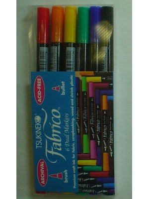 Fabrico Dual Markers, Standard Package, 6 Pen Set