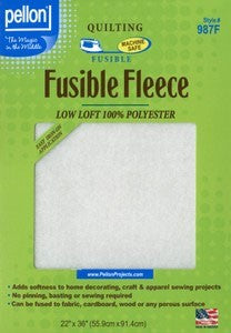Pellon Fusible Fleece: Low Loft, 100% Polyester, 22