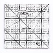 "Sew Square Ruler - 6"" x 6"""