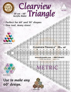 "Marci Baker Clearview Triangle™ 8"" (Imperial Measurement) - for the majority of designs in Marci Baker books (In Imperial Measurement)"