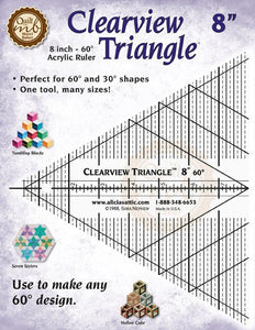 Marci Baker Clearview Triangle™ 20cm (Metric Measurement) - for the majority of designs in Marci Baker books (In Metric Measurement)