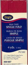 Wright's Bias Tape Packaged Single Fold 13mm x 3.7m Brick 087