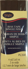 Wright's Single Fold Bias Tape Packaged 13mm Wide Mocha 765