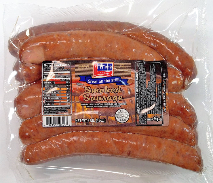 00258 - Lee HC Smoked Sausage 6/3#
