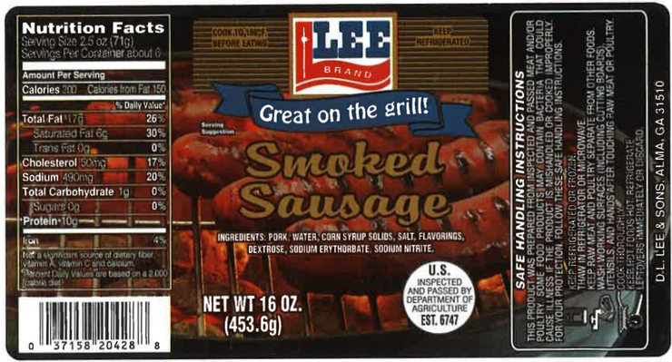00266 - Lee HC Smoked Sausage 12-1#