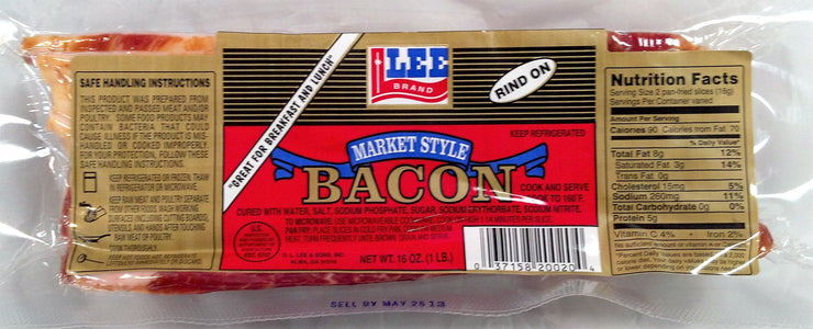 00750 - Lee Rind-On Market Style Smoked Bacon 12/1#