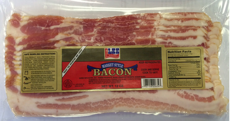 00776 - Lee Smoked Derind Bacon 16/12 oz
