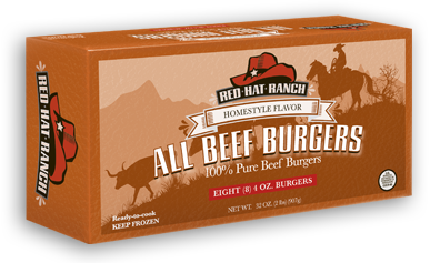 00867 - Red Hat Beef Patties 12/2#