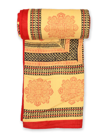 Dohar Red Mandna Design