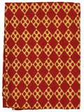 Red and Yellow Geometrical Screen Printed Fabric.