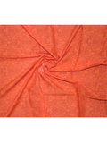 Pure Cotton Orange Color Screen Printed Fabric.