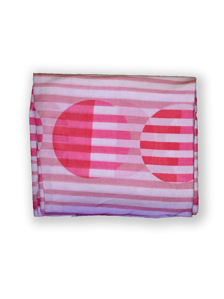 Fabric Stripe Circle Pink