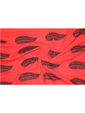 Fabric Fern Print Red