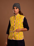 Cotton Quilted Jacket Yellow Booti