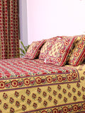 Bed Cover Chattha Jaal Red