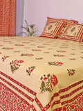 Bed Cover Mughal Boota Pink